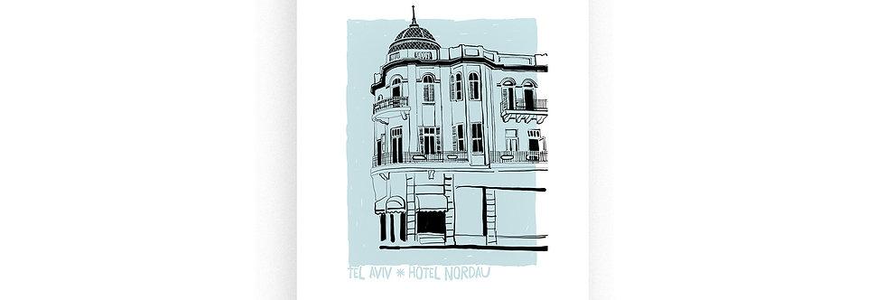 Hotel Nordau / risograph print, A4 /