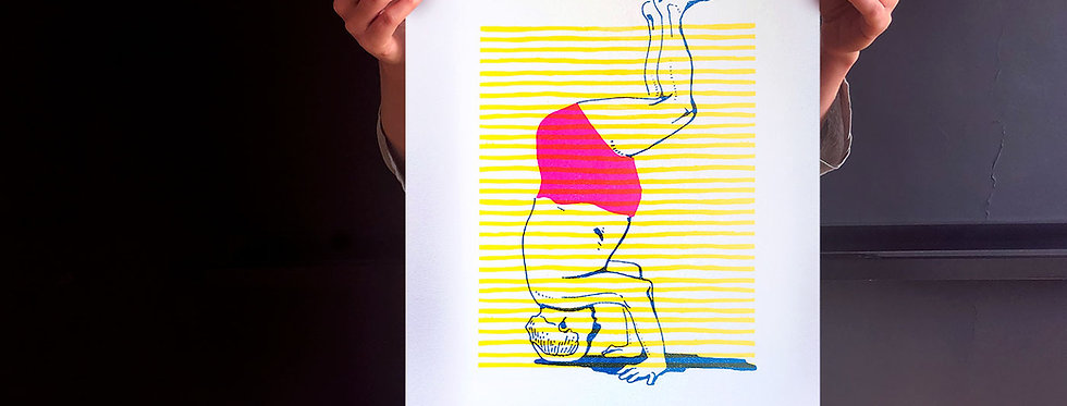 David Ben-Gurion / risograph print, A3 /