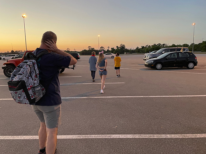 Day is done as we head off into the sunset after our last day of Spring Break at the Flower and Garden Festival at Epcot