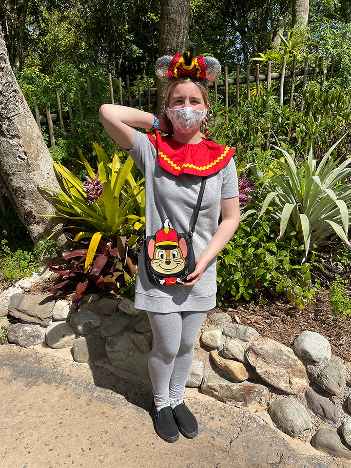 Fiona dressed as Dumbo at Discovery Island Trail at Animal Kingdom