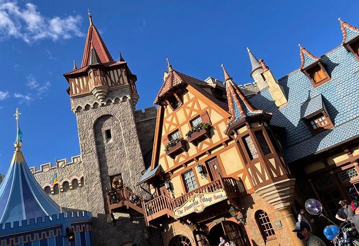 Fantasyland around the Pinocchio Village House at Magic Kingdom at Walt Disney World