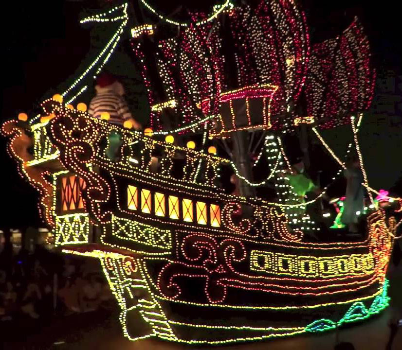 Peter Pan Pirate Ship-Main Street Electrical Parade