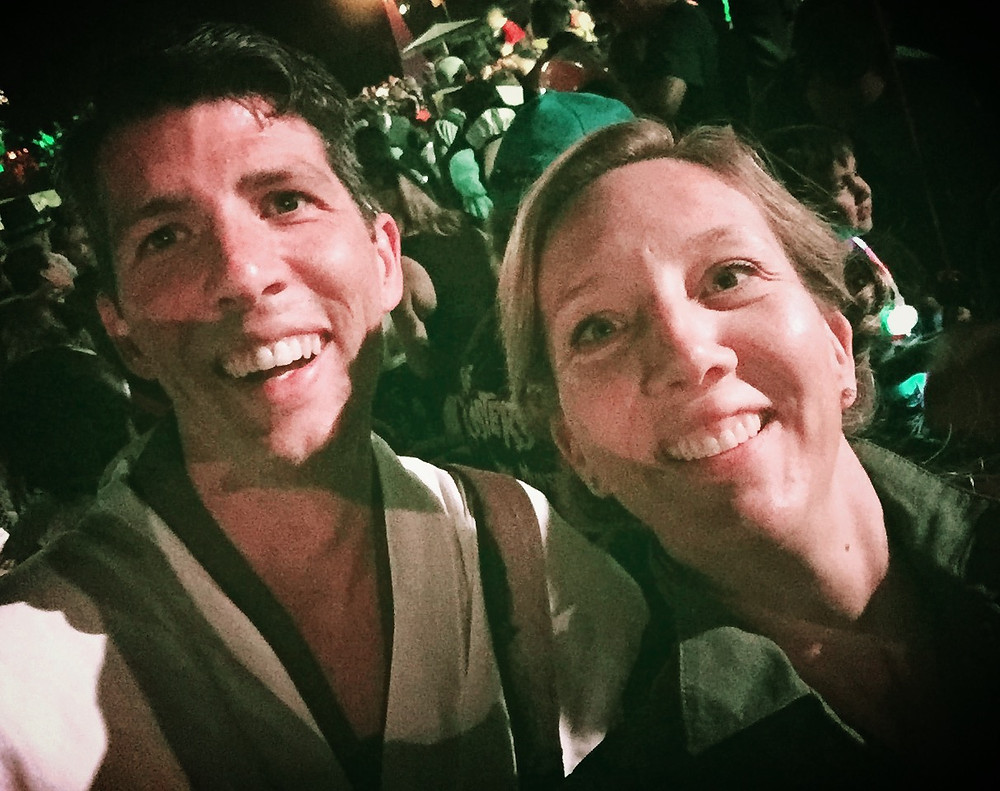 Ryan and I at Mickey's Halloween Party, October 2016. Dressed as Obi Wan and General Leia