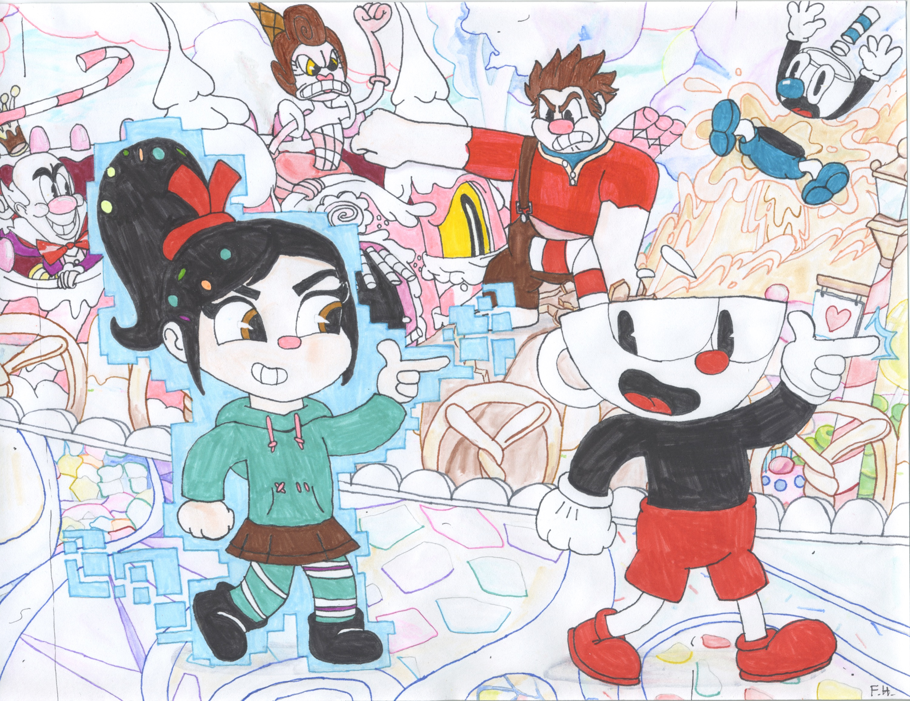 vanellope and cuphead