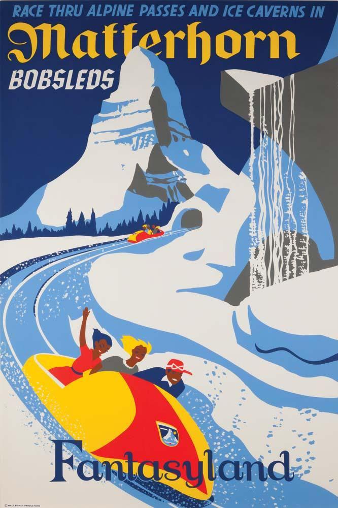 Matterhorn Bobsleds Attraction Poster