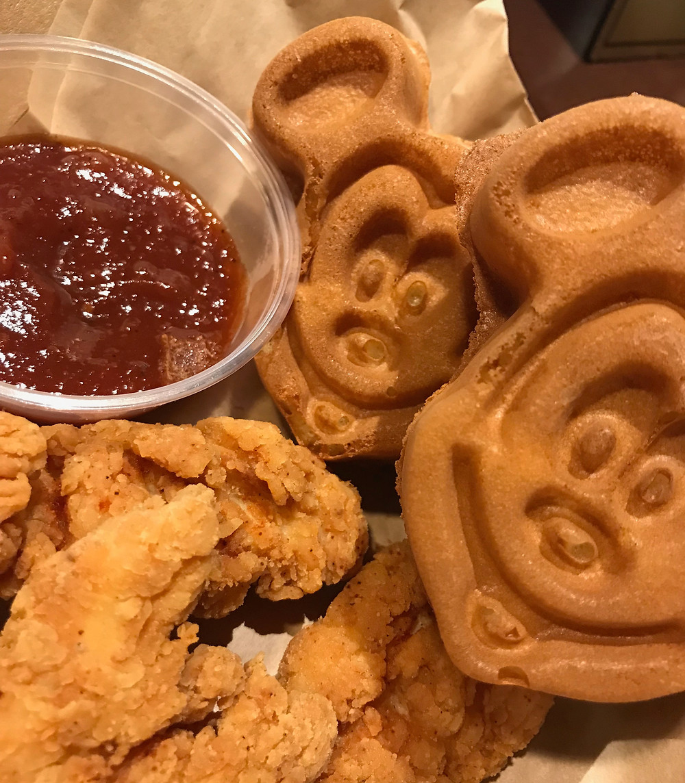 Mickey Waffles and Chicken