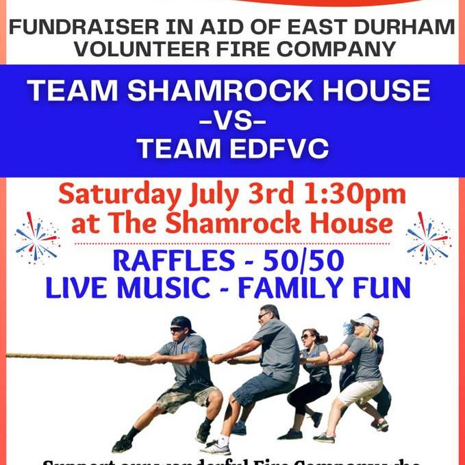 TUG OF WAR FUNDRAISER Team Shamrock v Team EDVFC