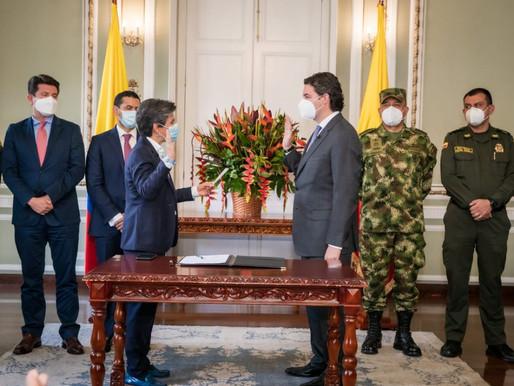 Alcaldesa Mayor posesionó a Aníbal Fernández de Soto como nuevo secretario de Seguridad, Convivencia