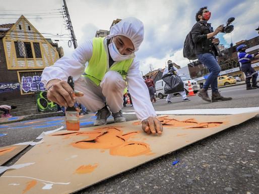 """""""Juntos Cuidamos Bogotá"""" llevó a cabo acciones de limpieza y embellecimiento en Chapinero."""