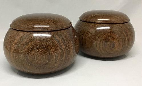 木製碁笥 ローズ紫檀 超特大
