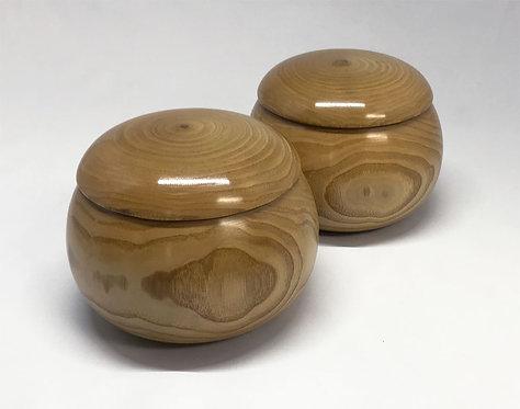 木製碁笥 栗生地  特大
