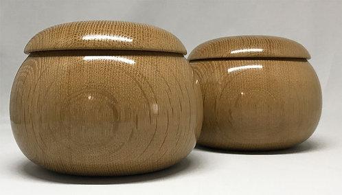木製碁笥 楢 特大