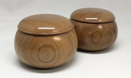 木製碁笥 桜 大