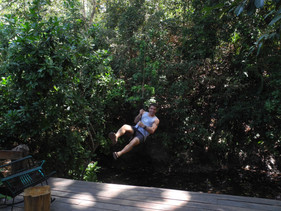 rope swing at Villas Espavel