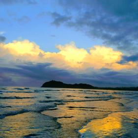 Samara Beach at sunset