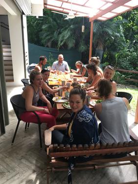 yoga family breakfast