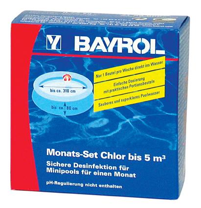 Monats Set Chlor 5m³