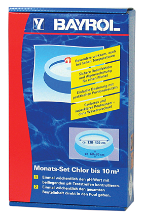 Monats Set Chlor 10m³