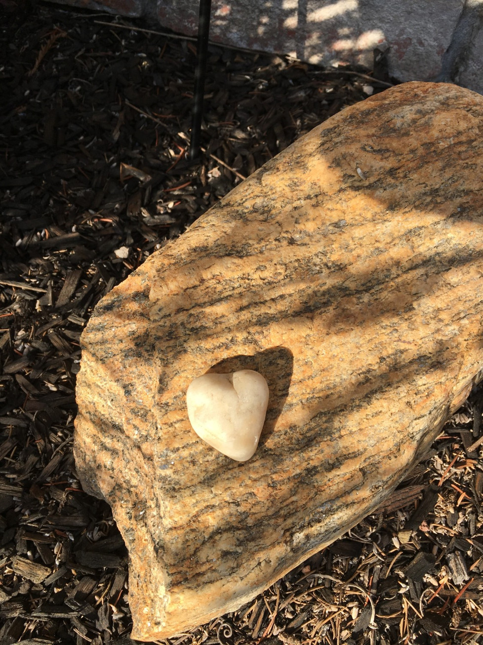 Heart rock at home