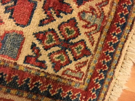 Heart rug at home