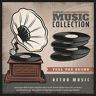 affiche-retro-gramophone-coloree-platine