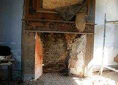 restauration complète de cette cheminée à foyer ouvert