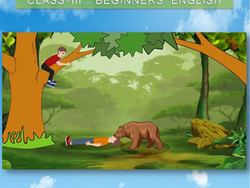 Class-III : BEGINNERS' ENGLISH : LESSON-2 : TWO FRIENDS AND A BEAR