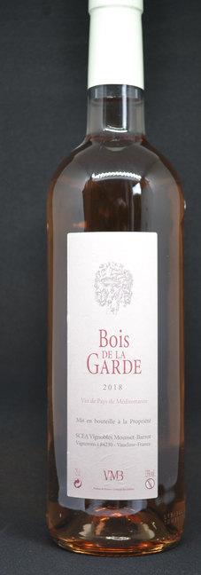 Vignobles Mousset Barrot Bois de la garde Rosé Vin de pays méditerranéen