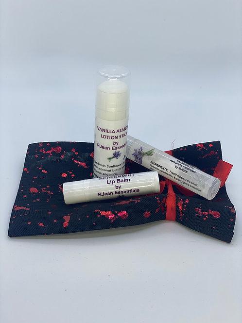 Lip Balm, Lotion Stick & Perfume Set