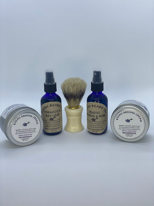1 - 2oz Beard Oil & 1 - 4oz Shaving Cream Set