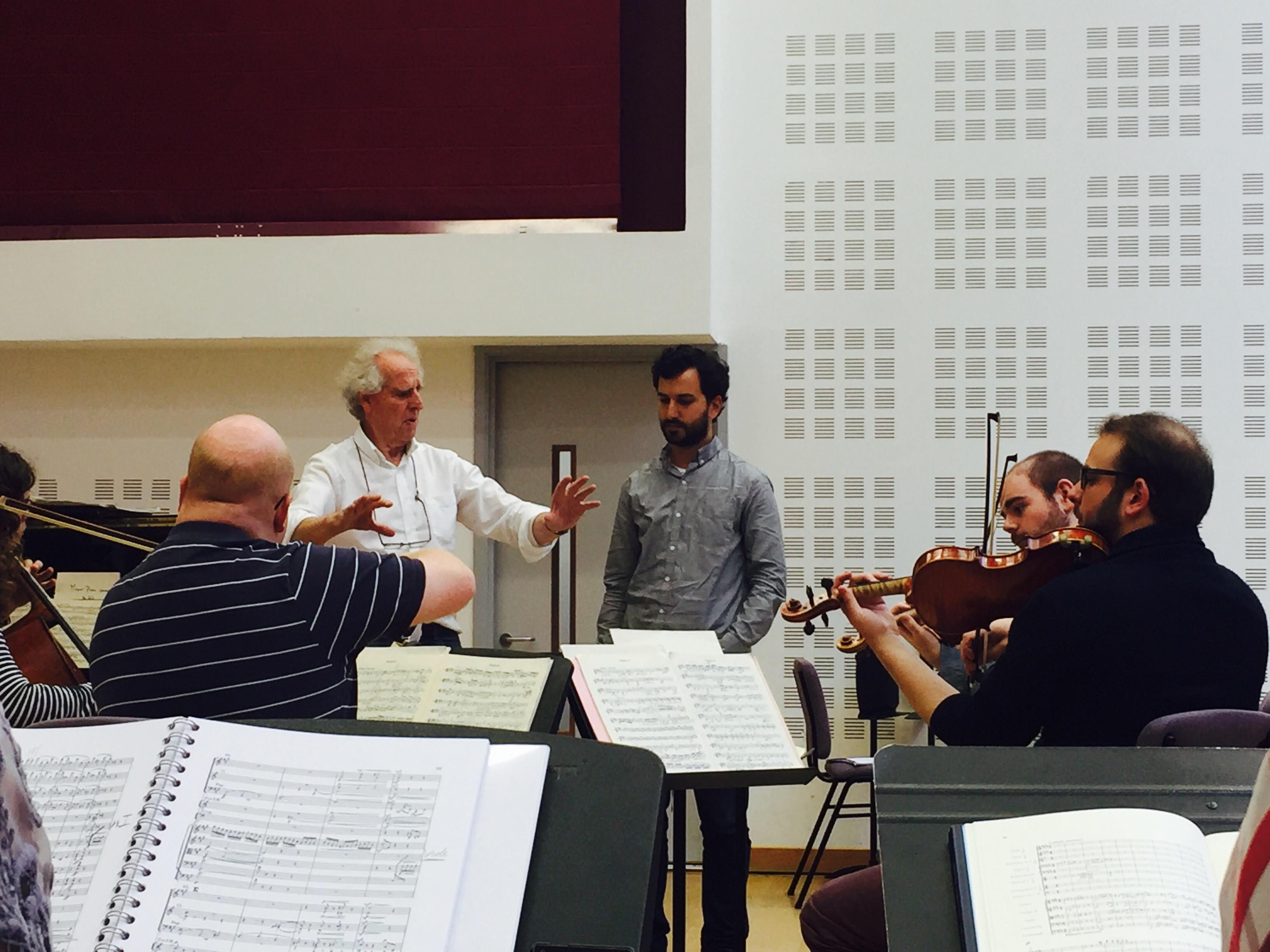 Con el Maestro Benjamin Zander