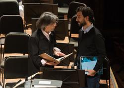 Con el Maestro Kent Nagano