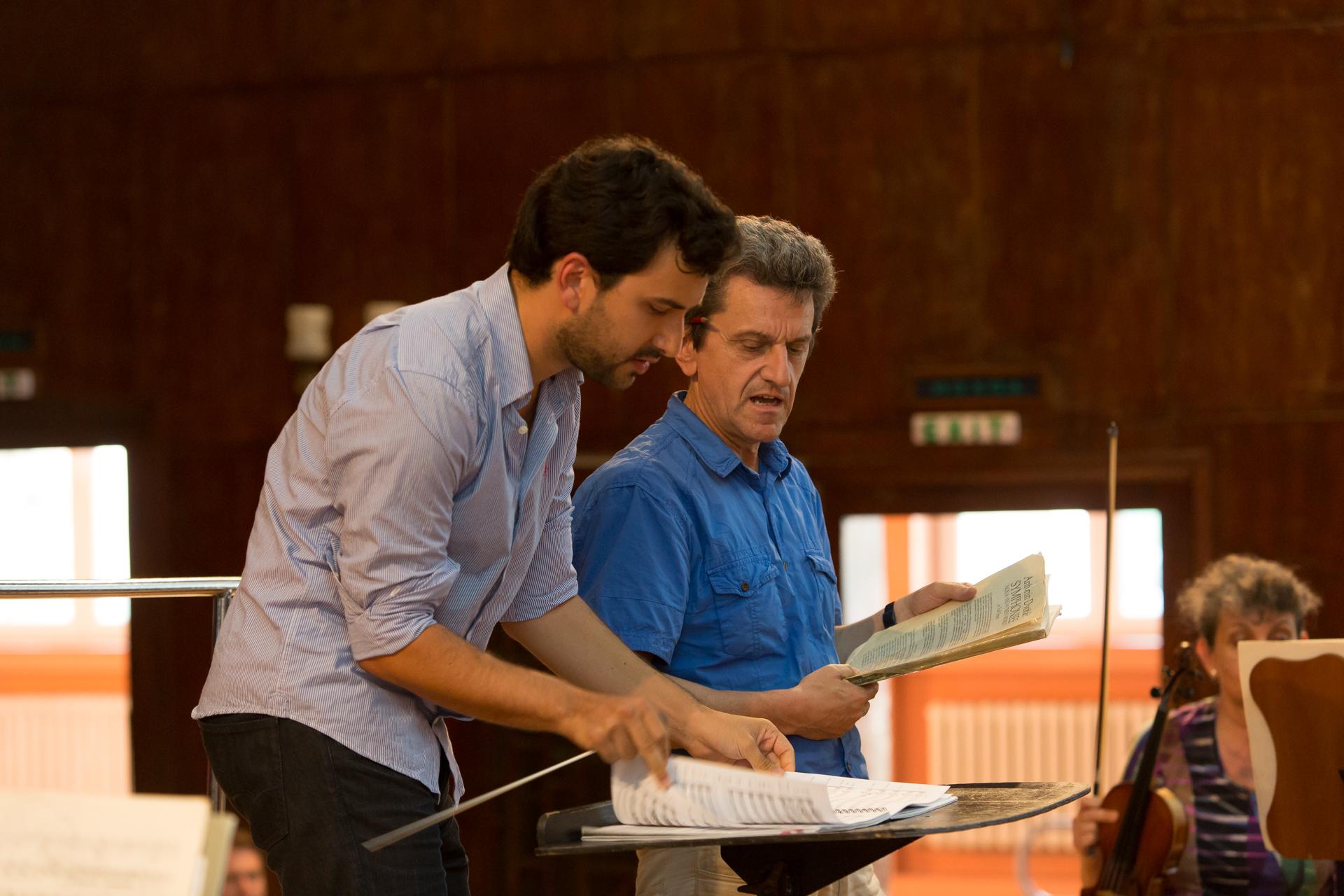 With Maestro Johannes Schlaefli