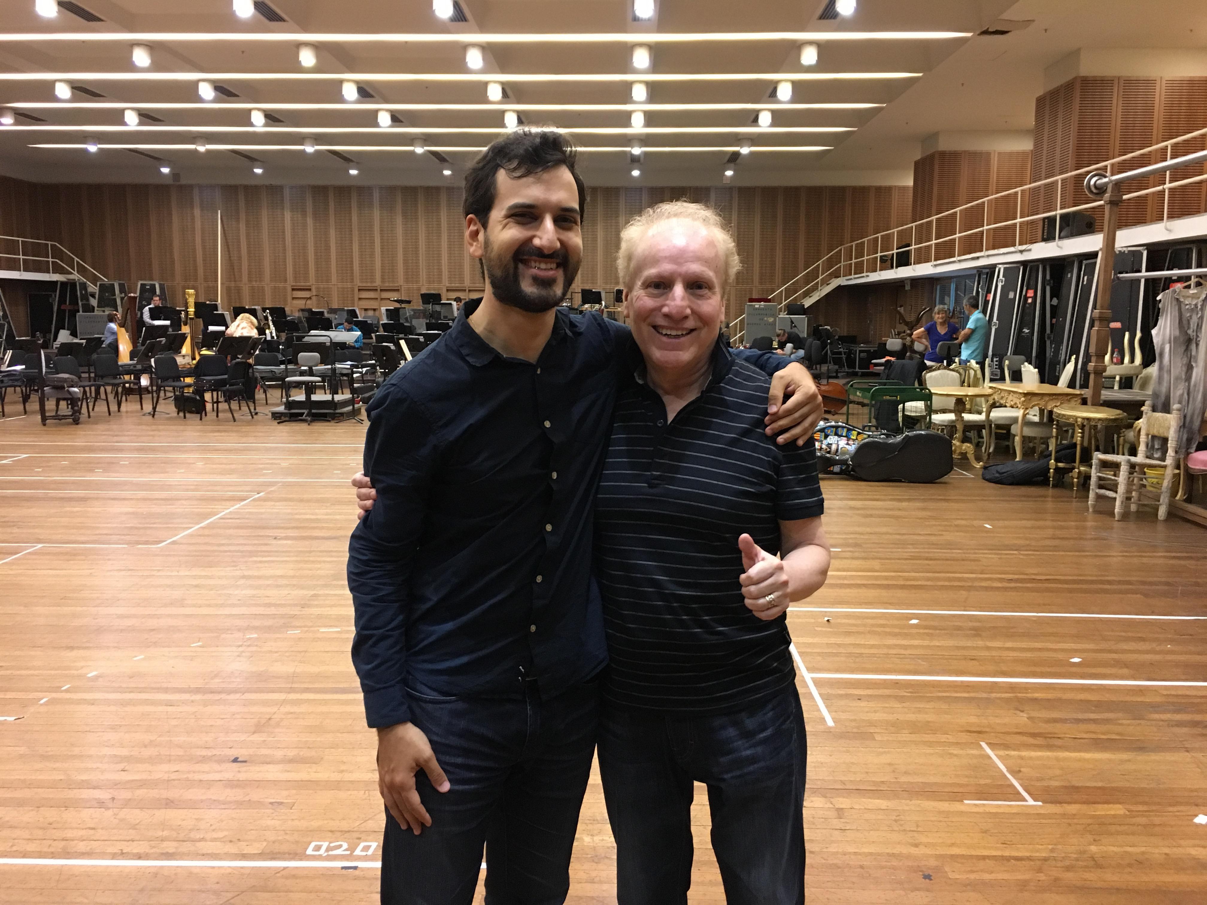 With Maestro Enrique Arturo Diemecke