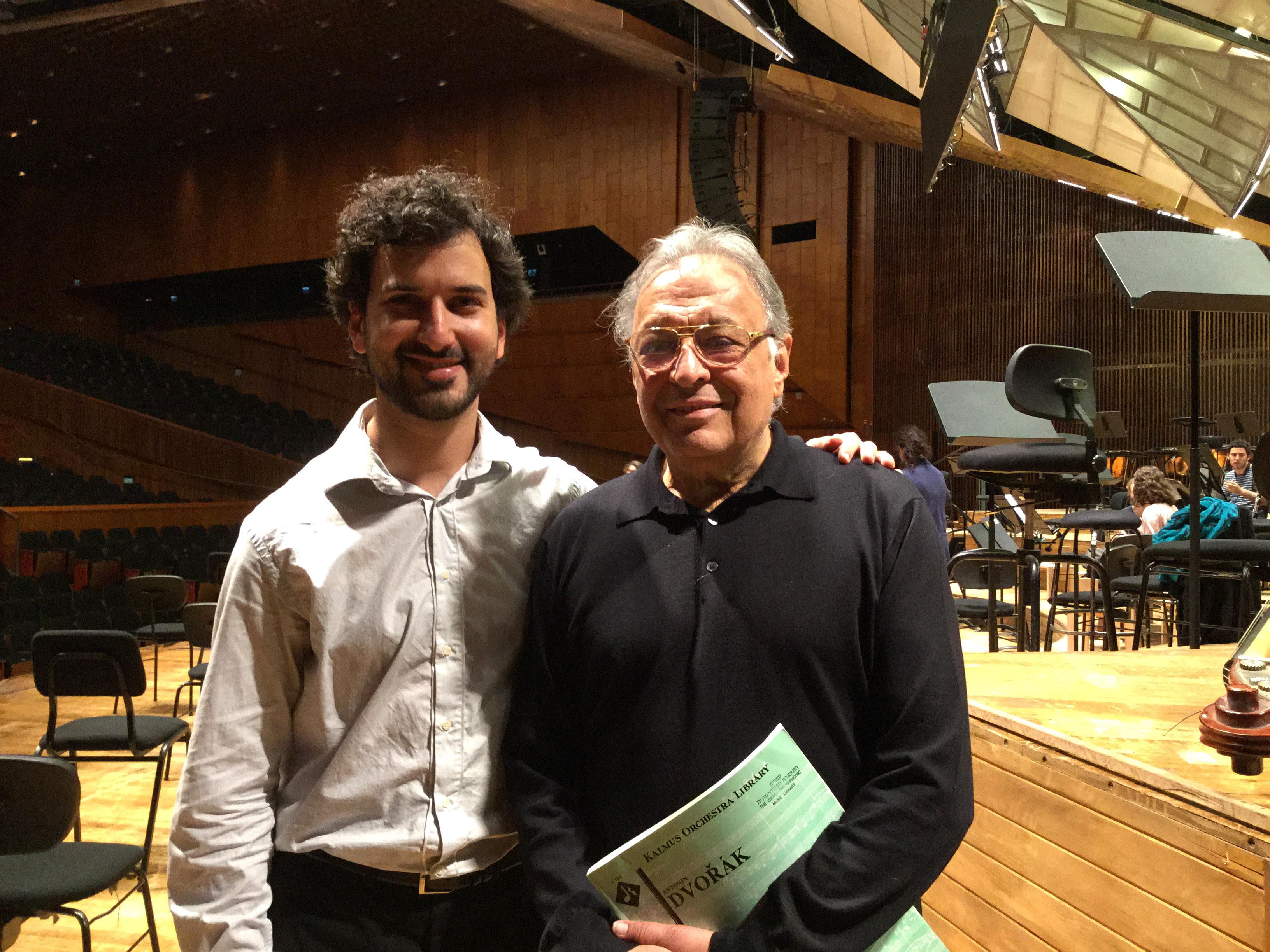 Con el Maestro Zubin Mehta