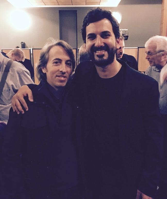 With Composer Esteban Benzecry