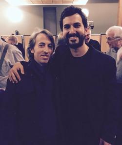 Con el compositor Esteban Benzecry