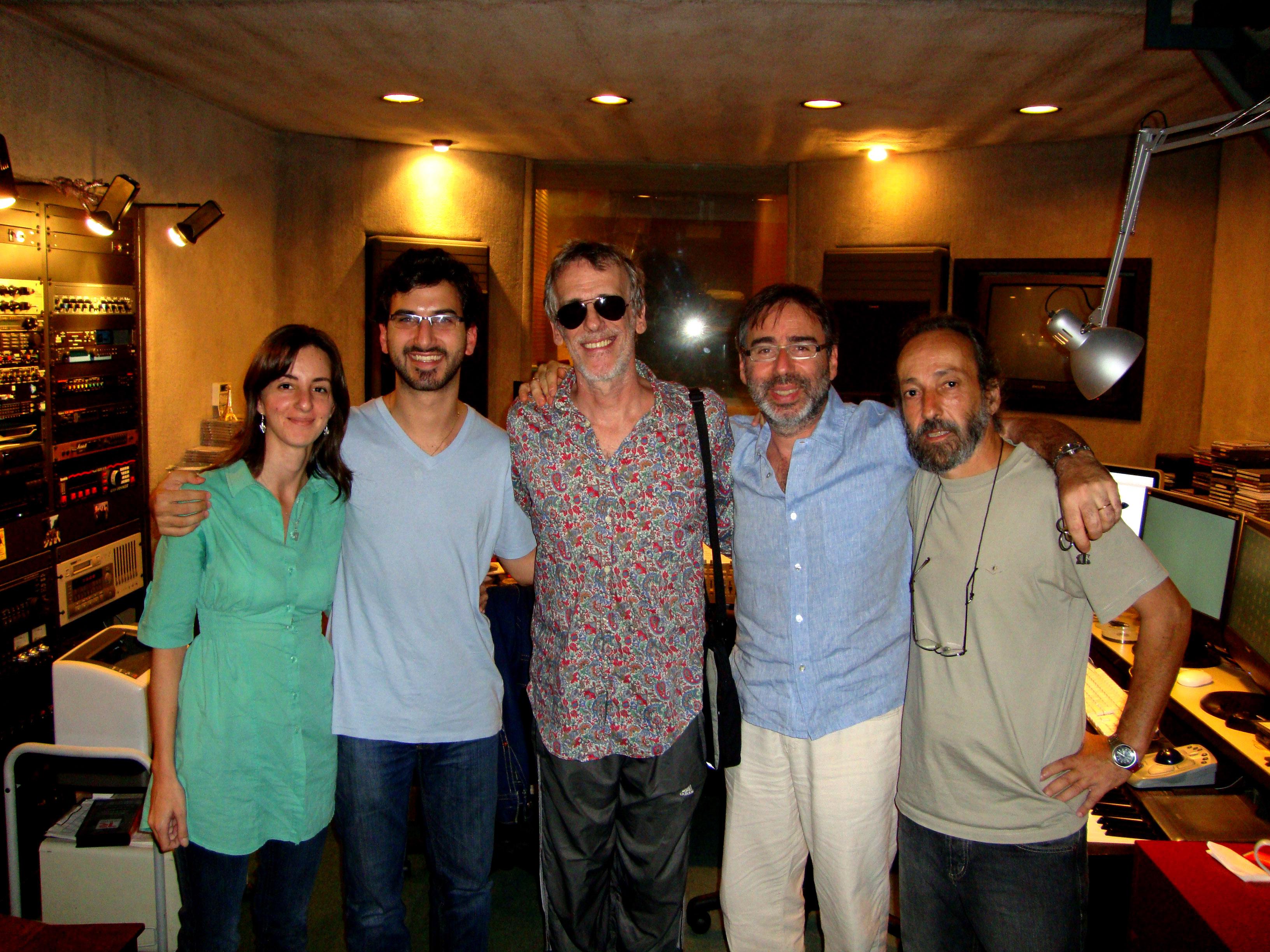 With Luis Alberto Spinetta, Leo Sujatovich and Pablo Lopez Ruiz