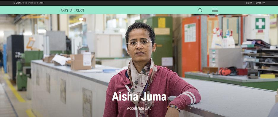 Aisha Juma at CERN