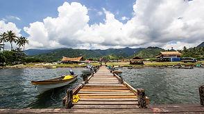 Pontoon and boats in Alotau, Papua New G