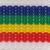 Polypropylene rainbow & white