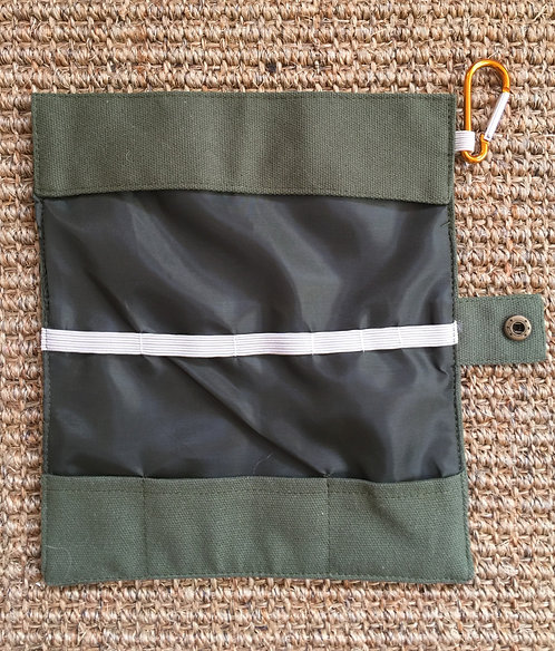Green multi-carry roll up pouch