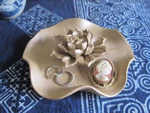 Lotus Incense Holder w/ Dish