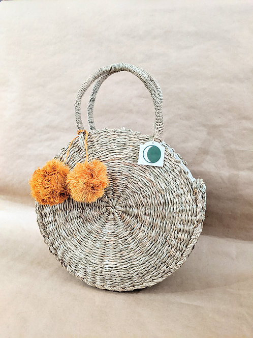 Round Seagrass Purse | Made in Indonesia
