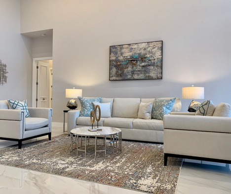 Bocaire Living Room - Vacant Home Staging