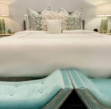 Luxurious Fabrics Enhance the Space