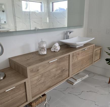Organic & Stylish Master Bathroom  Spa