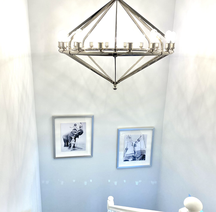 Staircase w. Gorgeous Chandelier