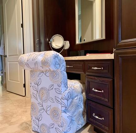 Custom Vanity of Master Bedroom