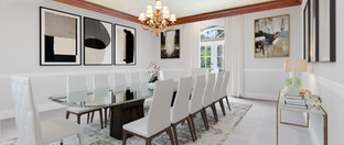 After Virtual Staging & Restoration - Dining Room